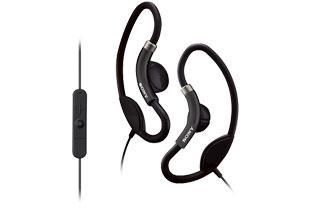 SONY DR-AS22iP 運動款時尚輕巧耳掛式耳機 300 kJ/m3 高功率釹質磁鐵可重現強勁的低音效果