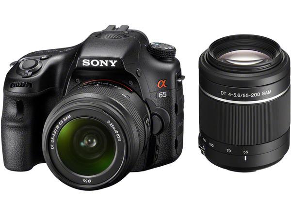 SONY單眼 SLT-A65VY A65 雙機組 α數位單眼相機 變焦鏡組(公司貨) 2430萬像素 半透明反光鏡技術