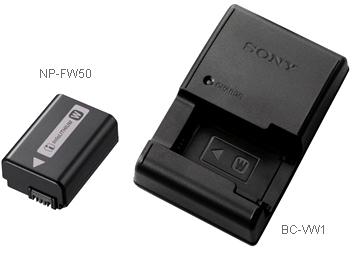 SONY ACC-VW 單眼相機專用超值配件組  內含W型充電電池NP-FW50電池充電器BC-VW1