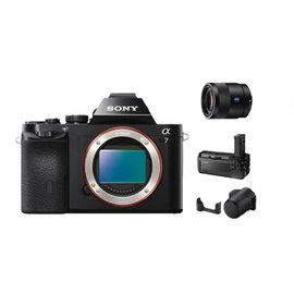 SONY A7 單眼相機(公司貨) + SEL55F18Z 超值組合 ★加贈電池(共2顆)+32G高速卡+拭鏡筆+保護貼+讀卡機!! ILCE7