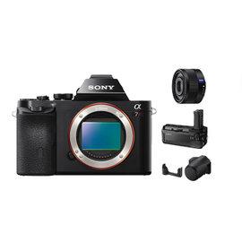 SONY A7R 單眼相機(公司貨) + SEL35F28Z 超值組合 ★加贈電池(共2顆)+32G高速卡+拭鏡筆+保護貼+讀卡機!! ILCE7R