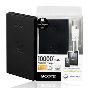 黑色新款! SONY CP-F10L 攜帶型雙USB 移動電源 行動電源 備用電池 ★可充電式高容量10000mAh CP-F10LS CP-F10M