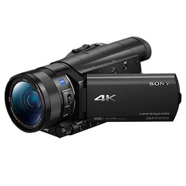 SONY FDR-AX100 4K高畫質記憶卡式攝影機(公司貨) ★贈長效電池(共2顆)+32G高速卡+座充+拭鏡筆+吹球組