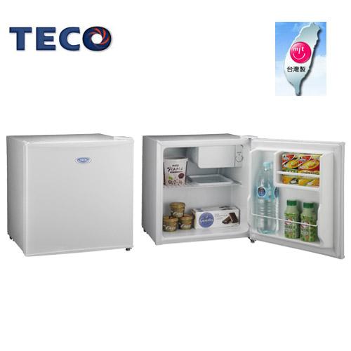 TECO東元R0510W  50L單門小冰箱 鏡面鋼板 飯店旅館/醫院適用
