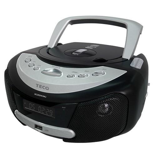 TECO 東元 手提式 CD/MP3/USB音響 SC2024CMU / 3.5mm音頻輸入插孔 / 支援讀取MP3 / 編曲設定