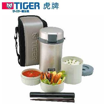 TIGER 虎牌 不鏽鋼真空保溫飯盒 LWU-B200 內部特殊鏡面加工處理