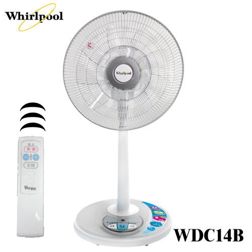 Whirlpool 惠而浦 14吋DC節能定時遙控立扇 WDC14B (貨在2F)