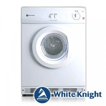 ★限量贈美式咖啡機 White Knight 600AW 6kg 滾筒式乾衣機 白色◆含到府基本安裝◆英國原裝進口
