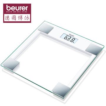 【 德國博依beurer】典雅方型玻璃體重計 GS14  2014新品上市 ★採用安全強化玻璃面板