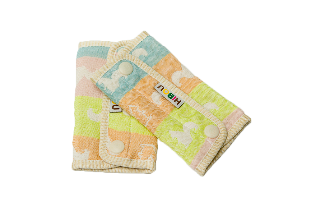 HiBOU-六重紗-背帶防污口水巾(多彩松鼠)