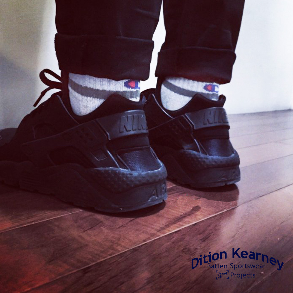 【DITION 日韓風】美國品牌 Champion 雙線復古短筒襪 日本購 - 一組三雙