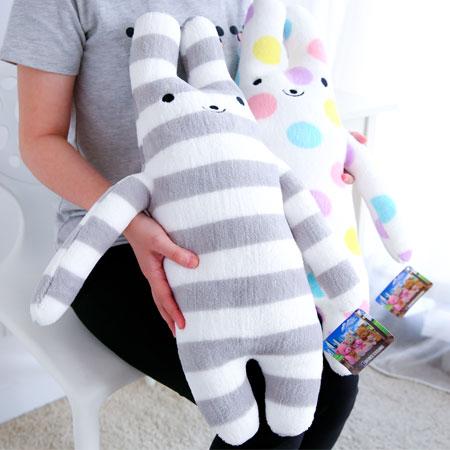 可愛綿綿兔娃娃抱枕 抱枕 娃娃 玩偶 靠墊 靠枕 交換禮物【B062358】