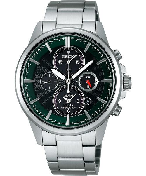 Seiko V174-0AA0G(SBPY025J)太陽能多功能流行腕錶/黑綠面40mm