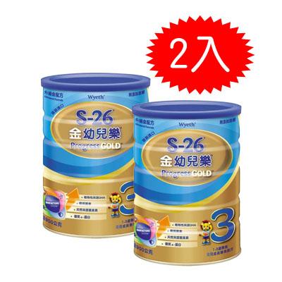 【悅兒樂婦幼用品舘】惠氏 S-26金幼兒樂升級配方900g-2罐
