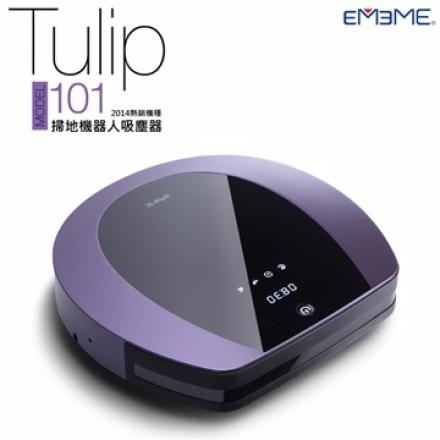 【領劵現折&限量加贈1年耗材】EMEME 掃地機器人 吸塵器 Tulip101 經典紫 TULIP-101