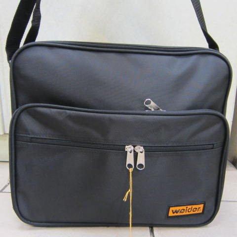 ~雪黛屋~weider 大型文件包 (橫式) 工作袋 工具袋 可手提肩背斜側背防水尼龍布材質#6001黑-黃