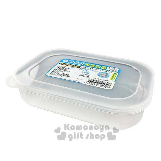 〔小禮堂〕 日製長型不鏽鋼保鮮盒《銀.透明蓋.300ml》