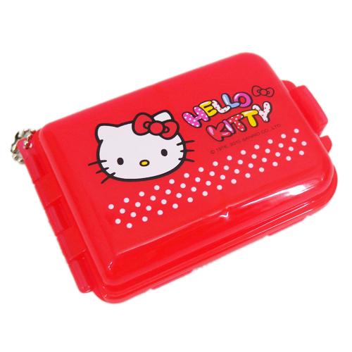 【真愛日本】15070700001 雙層置物盒-大臉紅  三麗鷗 Hello Kitty 凱蒂貓  收納盒