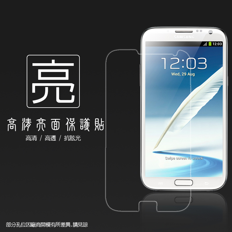 亮面螢幕保護貼 SAMSUNG GALAXY Note 2 N7100 保護貼