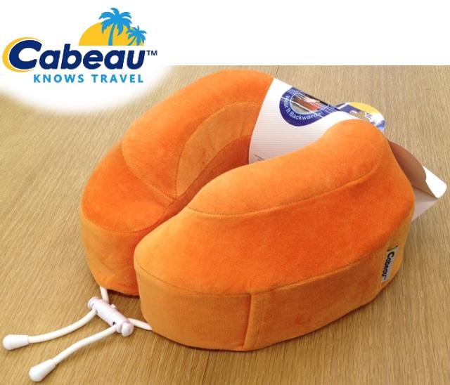 Cabeau 旅行用記憶頸枕/U型枕/旅行/長途/坐車旅遊枕/飛機靠枕/旅行枕/旅行頸枕 枕頭套可拆洗 橙