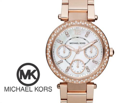 美國Outlet正品代購 MichaelKors MK  玫瑰金陶瓷 水鑽 三環 手錶 腕錶 MK5616