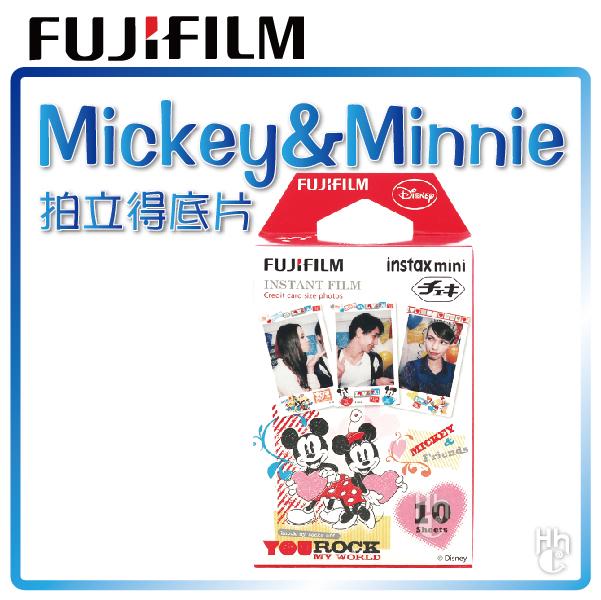 【和信嘉】拍立得 迪士尼 米奇&米妮 底片 Disney Mickey Minnie 富士 FUJIFILM Mini8 / Mini25 / Mini50S / Mini70 / Mini90 / SP1