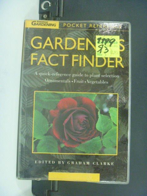 【書寶二手書T8/園藝_JNP】Gardener's fact finder_Graham Clarke