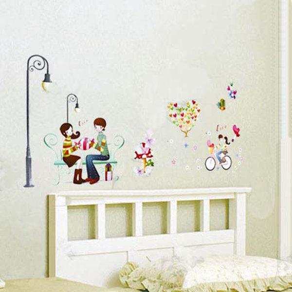 BO雜貨【YV0658】DIY時尚裝飾組合可移動壁貼 牆貼 壁貼 創意壁貼 路燈自行車氣球LD1223