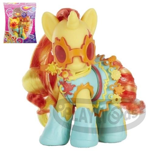【Playwoods】[彩虹小馬My Little Pony] 6吋魅力風尚遊戲組-夕陽微光SUNSET SHIMMER (第五季/魅力風格小馬寶莉/水晶王國/Princess Celebration/化裝舞會/友情就是魔法)