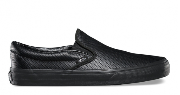 VANS SHOES - VANS - 基本款皮質Perf Leather Slip On-全黑款(52010842)