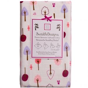美國【Swaddle Designs】薄棉羅紗多用途嬰兒包巾 (小樹紅)