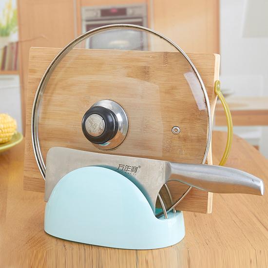 ♚MY COLOR♚廚房接水盤鍋蓋架 砧板 菜板 刀架 置物 掛架 收納 瀝水 衛生 支架 雜物【R55】