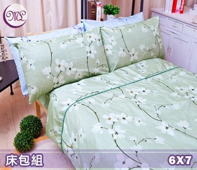 【名流寢飾家居館】馨花小品.100%精梳棉.特大雙人床包組.全程臺灣製造
