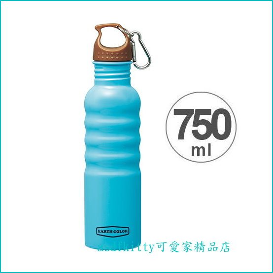 asdfkitty可愛家☆日本SKATER輕量藍色不鏽鋼水壺/運動水壺/750ML-底部防滑-外出好帶-易清洗-日本正版
