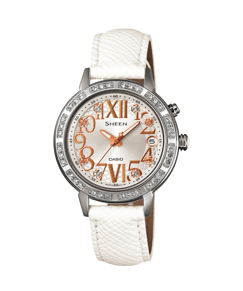 CASIO SHEEN SHE-4031L-7A璀璨華麗時尚腕錶/白色面32mm