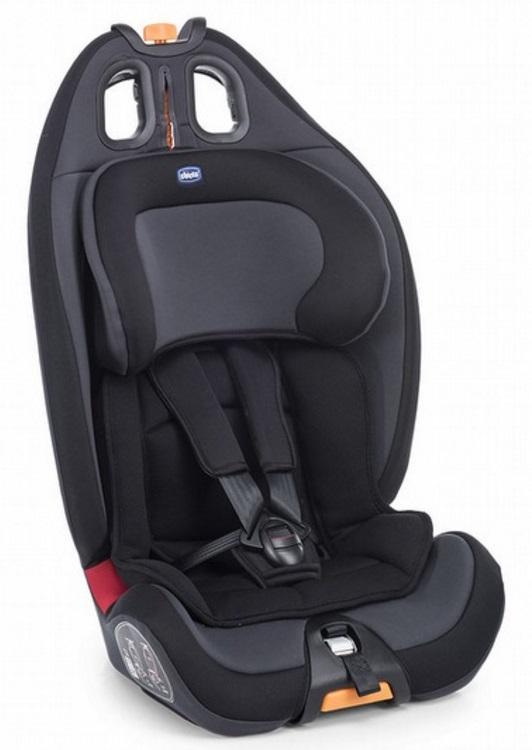 【淘氣寶寶】Chicco Gro-up123 成長型兒童汽車安全座椅 9~36kg 絕對黑【公司貨】