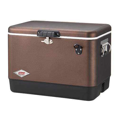 【露營趣】中和 Coleman 51L黑咖啡經典鋼甲冰箱 冰桶 行動冰箱 釣魚露營必備 CM-03741