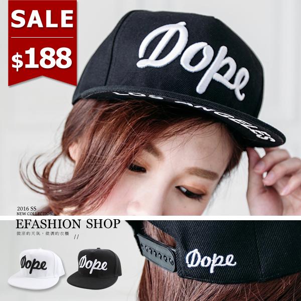 刺繡Dope棒球帽-eFashion 預【D14200045】