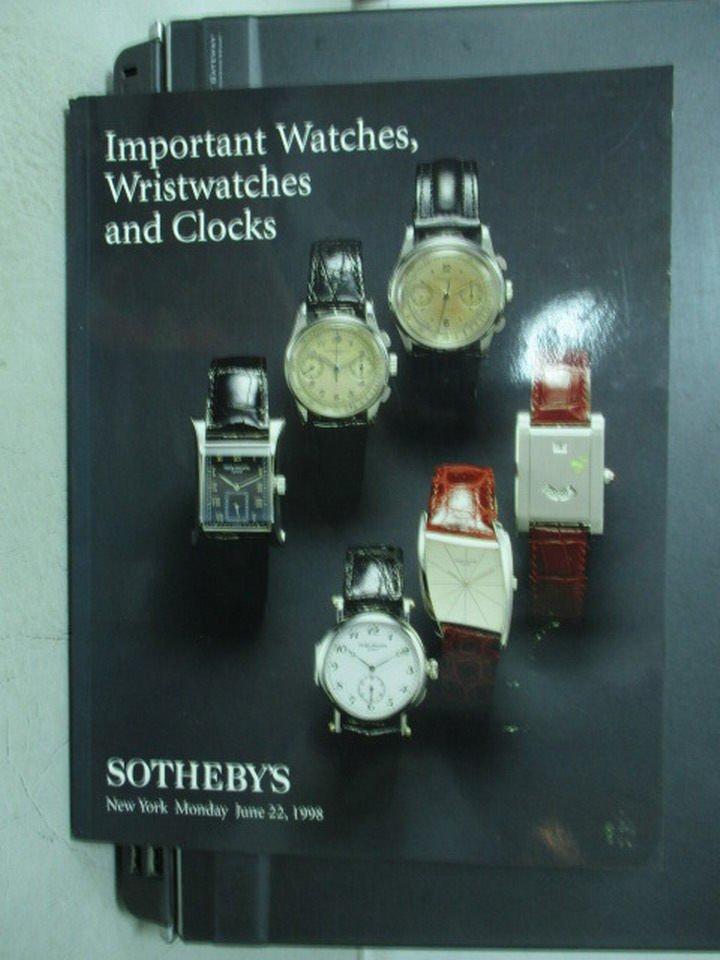 【書寶二手書T7/收藏_ZHJ】Sotheby's_Important watches..._1998/6/22_6隻錶