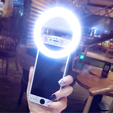 美肌LED環型補光燈 環型燈 三段式 通用款 閃光燈 柔光燈 夜拍自拍神器 可充電【N202078】