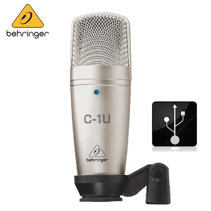 【非凡樂器】Behringer C-1U 耳朵牌電容式麥克風/USB版本【錄音室最佳首選/QR碼公司貨保固一年】