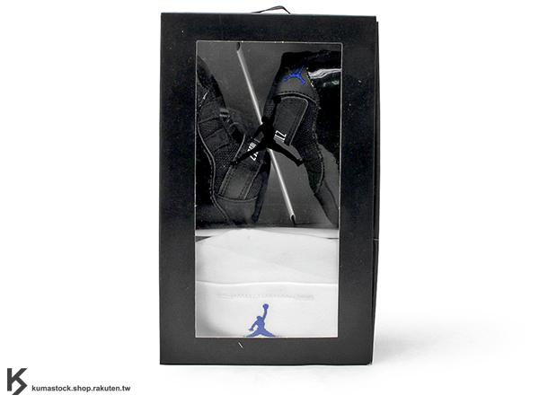 2016 一歲以下嬰兒專用 NIKE JORDAN 11 XI RETRO GP GIFT PACK SPACE JAM 怪物奇兵 黑藍 亮皮 嬰兒鞋 + 白色小帽 AJ 23 AIR (378049-003) !