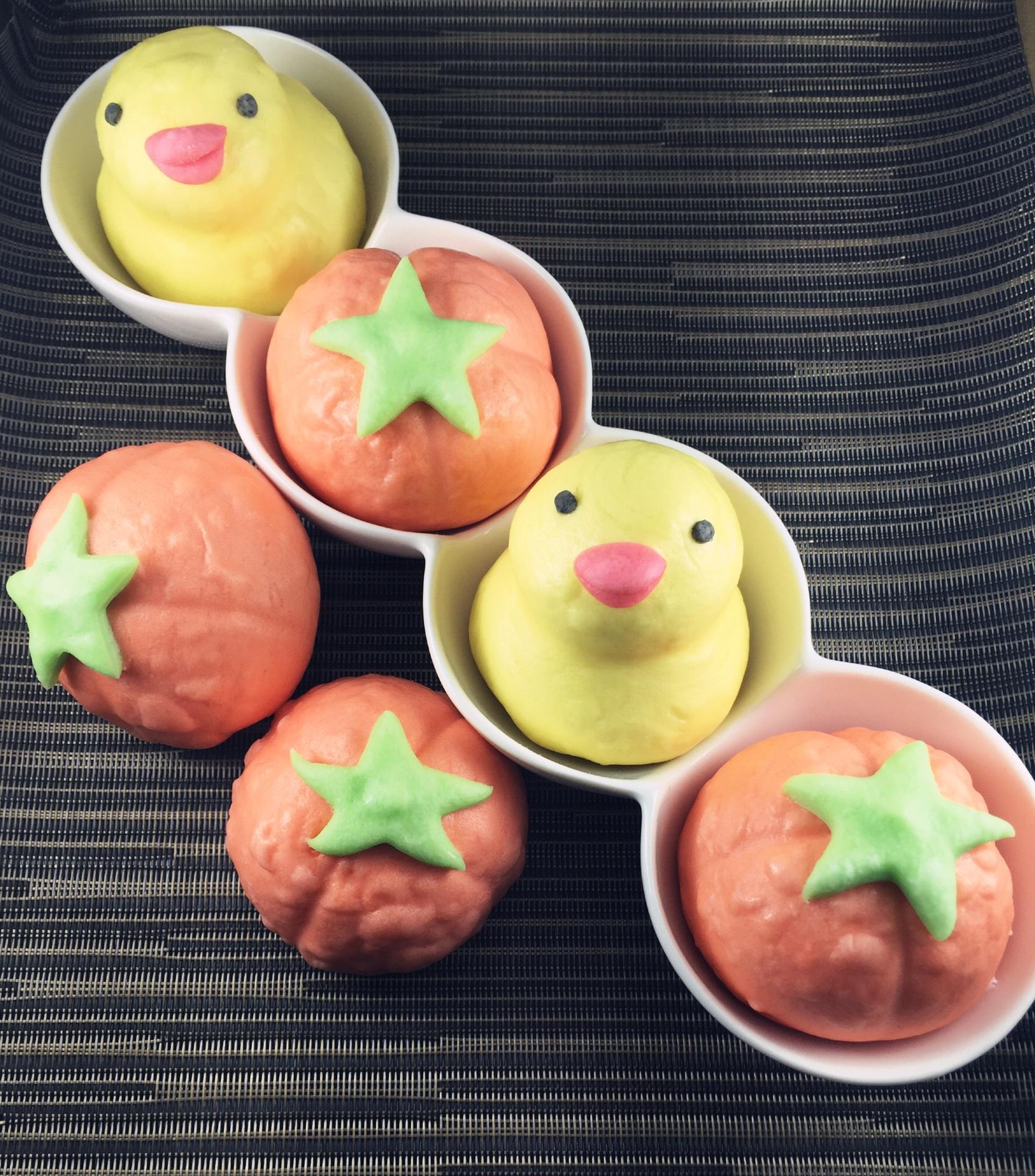 《御欣坊人氣美食》粉紅小豬甜甜包/番茄紅豆包/黃色小鴨芝麻包(10粒/包) 特價再享買十包送一包