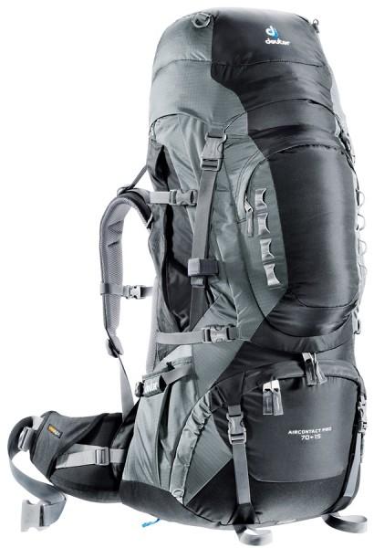 【露營趣】中和 送贈品 deuter 33843 Aircontact Pro 70+15L 拔熱式透氣背包 登山背包 自助旅行背包