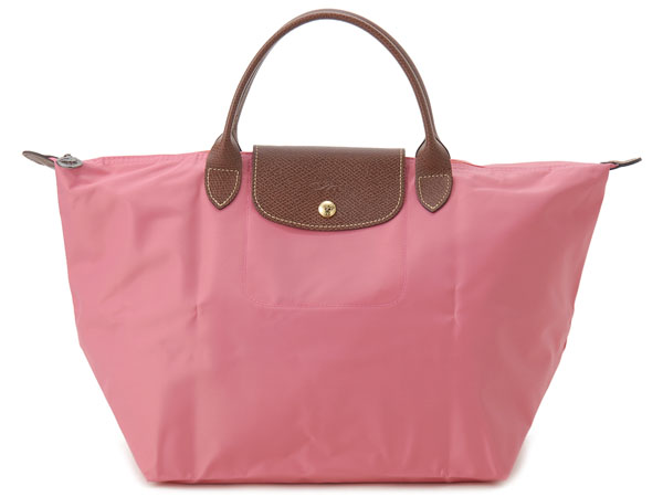 [1623-M號]國外Outlet代購正品 法國巴黎 Longchamp  短柄 購物袋防水尼龍手提肩背水餃包 西瓜紅
