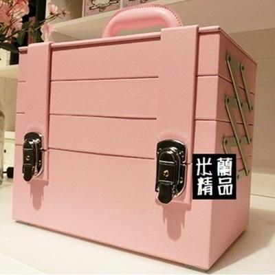 化妝箱 隨身收納盒-PU防水手提美妝美甲專業工具箱3色73d37【獨家進口】【米蘭精品】