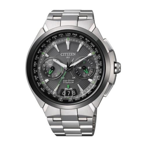 CITIZEN GENTS 鈦金屬光動能衛星對時錶款/CC1086-50E