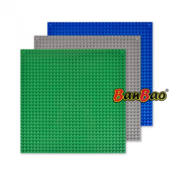 【BanBao 積木】其它配件-積木專用底板 8482 (共三款可選,樂高通用) (單筆訂單購買再加送積木拆解器一個)