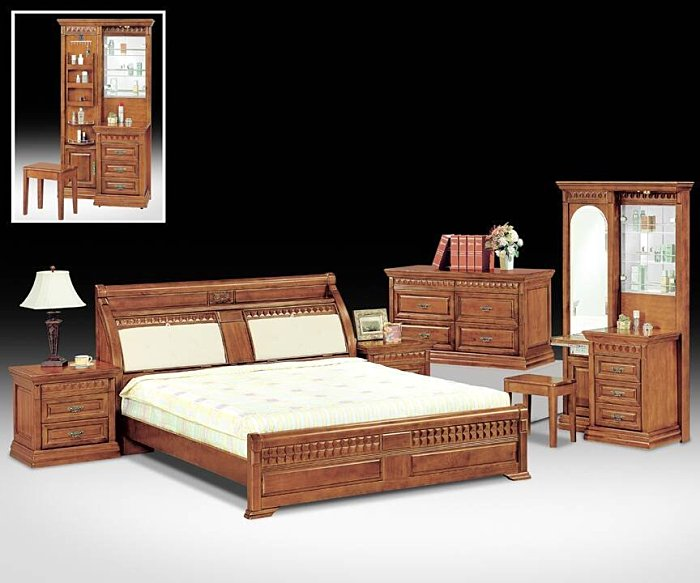 【尚品家具】702-13奧力樟木實木6尺雙人床台/床架~另有5尺
