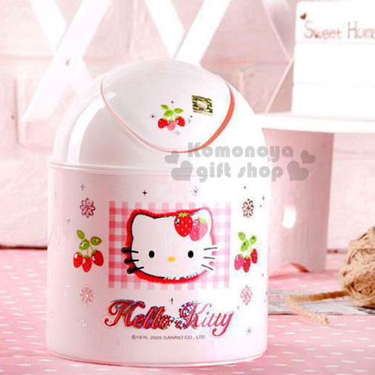 〔小禮堂韓國館〕Hello Kitty 迷你垃圾筒《粉紅.草莓》輕鬆美化室內空間